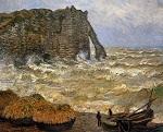Клод Моне Бурное море в Этрета 1883г 100х81cm Musée des Beaux-Arts, Lyon, France