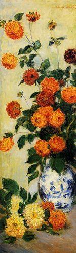 Клод Моне Георгины 1883г 128x37cm