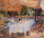 Клод Моне Завтрак под навесом 1883г