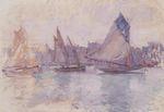 Клод Моне Лодки в порту Гавра 1883г