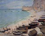 Клод Моне Лодки на побережье в Этрета 1883г