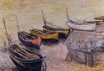 Клод Моне Лодки на побережье 1883г