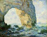 Клод Моне Маннпорт, Скальные ворота, запад Этрета 1883г 65 x 81 cm Metropolitan Museum of Art, New York