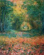 Клод Моне Подлесок в лесу Сен-Жермен 1882г