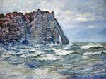 Клод Моне Порт д'Аваль, бурное море 1883г 60x80cm