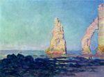 Клод Моне Скала Игла в Этрета, отлив 1883г