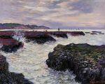 Клод Моне Скалы в Пурвиле, отлив 1882г