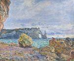 Клод Моне Этрета, побережье и Порт д'Аваль 1883г