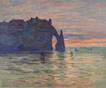 Клод Моне Этрета. Закат 1883г.