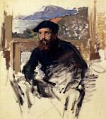 Клод Моне Автопортрет в студии 1884г 54х85cm Musée Marmottan, Paris, France