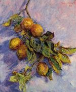 Клод Моне Ветка лимонов 1884г 65x54cm