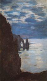 Клод Моне Этрета, скала Игла и Порт д'Аваль 1885г