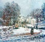 Клод Моне Большая дорога, ведущая в Аржантёй. Зима 1885г