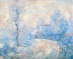 Клод Моне Въезд в Живерни в снегу 1885г
