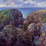 Клод Моне Группа скал в Порт-Гульфаре 1886г