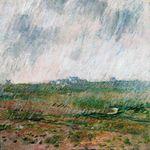 Клод Моне Дождь в Бель-Иль 1886г