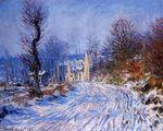 Клод Моне Дорога в Живерни зимой 1885г