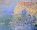 Клод Моне Маннпорт, отражение в воде 1885г