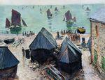 Клод Моне Отплытие лодок, Этрета 1885г