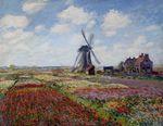 Клод Моне Поля тюльпанов и мельница Рийнсбурга 1886г