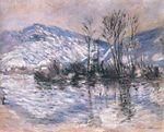 Клод Моне Сена в Порт-Вийе, эффект снега2 1885г