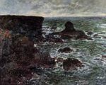 Клод Моне Скалистый берег и Львиная скала, Бель-Иль 1886г