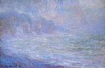 Клод Моне Скалы в Пурвиле, дождь 1886г
