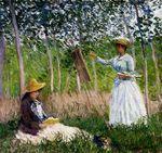 Клод Моне В лесах Живерни. Бланш Хосхеде 1887г Los Angeles County Museum of Art, Los Angeles