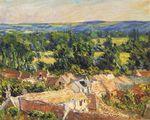 Клод Моне Вид на деревню в Живерни 1886г