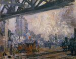Клод Моне Вокзал Сен-Лазар, вид снаружи 1887г