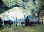 Клод Моне Вокзал Сен-Лазар, нормандский поезд 1887г
