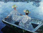 Клод Моне Голубая весельная лодка 1887г