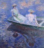 Клод Моне Девушки в лодке 1887г