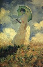 Клод Моне Женщина с зонтиком 1886г 131x88cm Musée d'Orsay, Paris