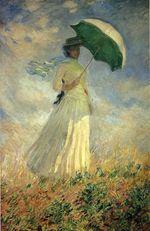 Клод Моне Женщина с зонтиком (этюд фигуры, смотрящей направо) 1886г 131x88cm Musée d'Orsay, Paris