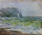 Клод Моне Маннпорт, Зтрета. Дождь 1886г