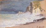 Клод Моне Маннпорт, Зтрета. Меж скалами. Шторм 1886г