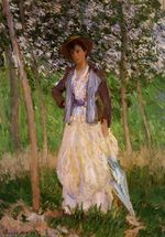 Клод Моне Прогуливающаяся (Сюзанна Хосхеде) 1887г