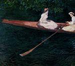 Клод Моне Розовая лодка на Эпте 1887г.