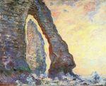 Клод Моне Скала Игла, вид сквозь Порт д'Амон 1886г