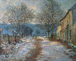 Клод Моне Снежный эффект в Лиметсе 1886г