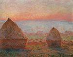 Клод Моне Стога сена в Живерни, вечернее солнце 1888г