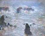 Клод Моне Шторм на побережье в Бель-Иль 1886г 81х65