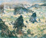 Клод Моне Шторм на побережье в Бель-Иль 1886г.