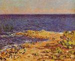 Клод Моне Голубая бездна Средиземного моря в Антибе 1888г