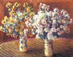 Клод Моне Две вазы с хризантемами 1888г