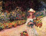 Клод Моне Девушка в саду Живерни 1888г