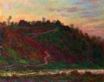 Клод Моне Деревня Ла-Рош-Блон, закат 1889г