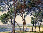 Клод Моне Деревья на побережье в Антибе 1888г