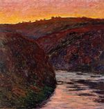 Клод Моне Долина Креза, закат 1889г